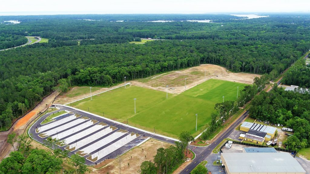 soccer complex view